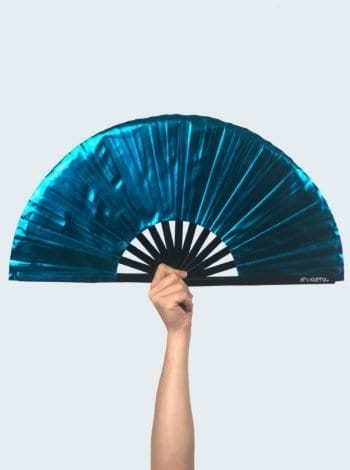 Metallic Cyan Fan