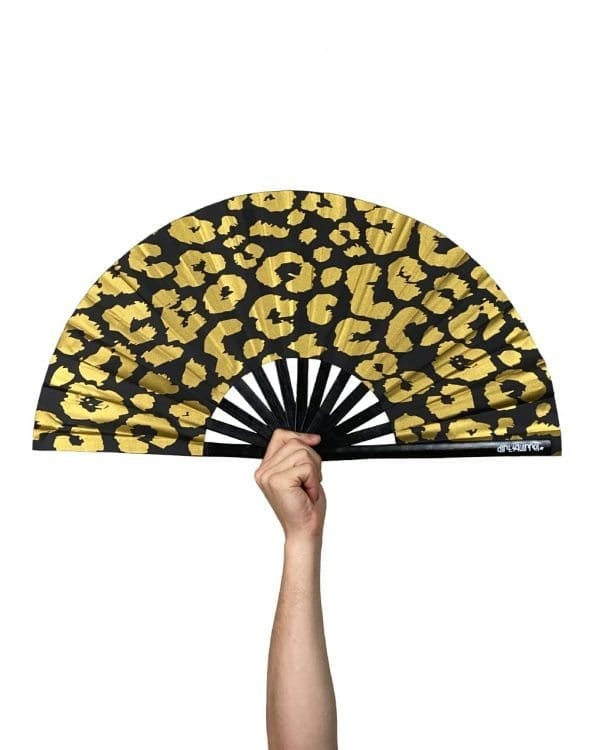 Gold Cheetah Fan
