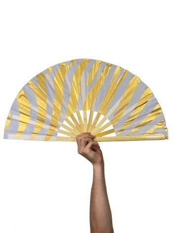 Gold Zebra Fan