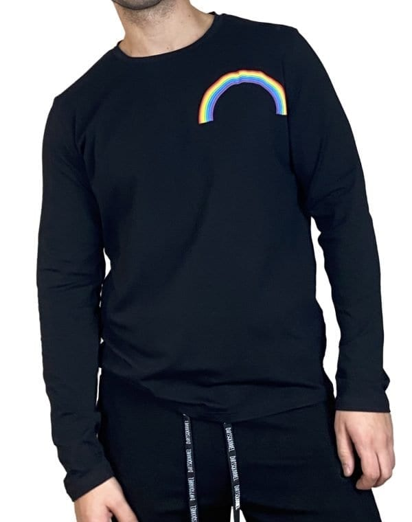Rainbow Puff Long Sleeve Tee