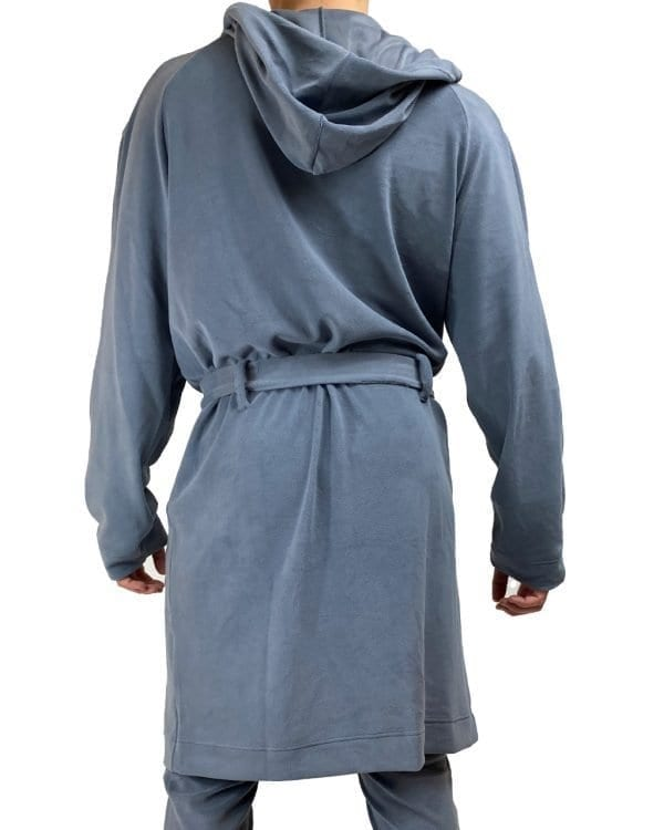 Dirt Squirrel Slate Grey Soft Lounge Robe Back