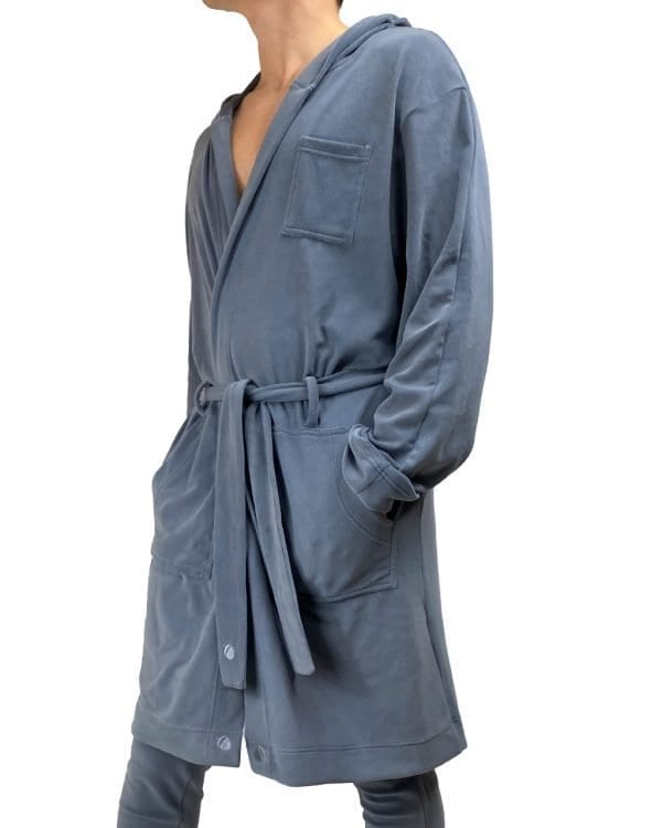 Dirt Squirrel Slate Grey Soft Lounge Robe