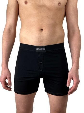 Dirt Squirrel Black Boxer Short Front