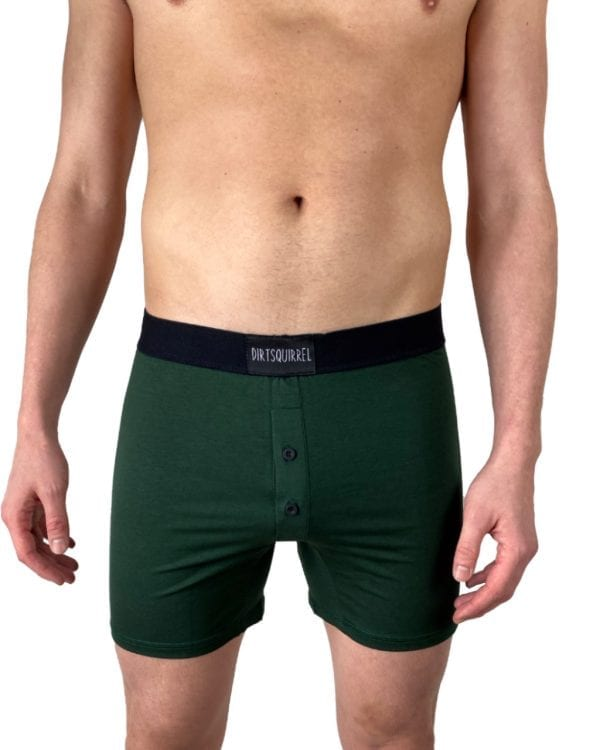 Dirt Squirrel Forest Green Boxer Short Front