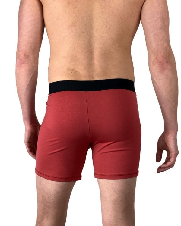 Dirt Squirrel Rusty Red Boxer Short Back
