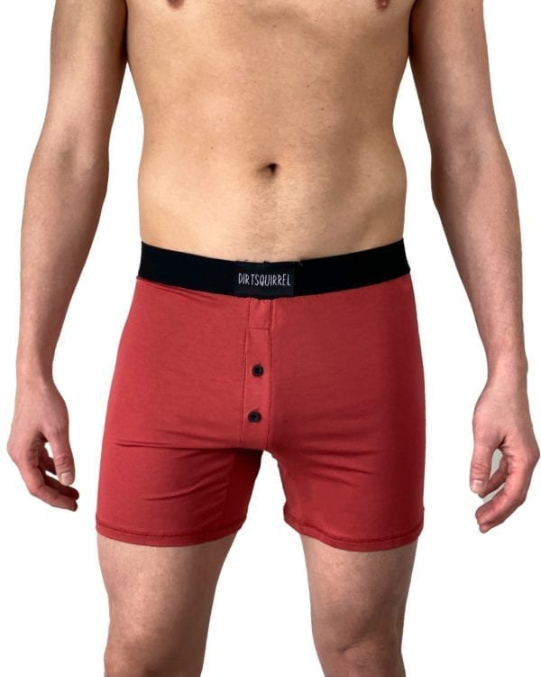 Dirt Squirrel Rusty Red Boxer Short Front