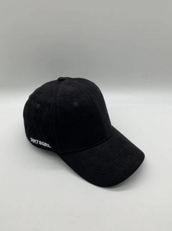 Black Suede Dirt Squirrel Snapback Front