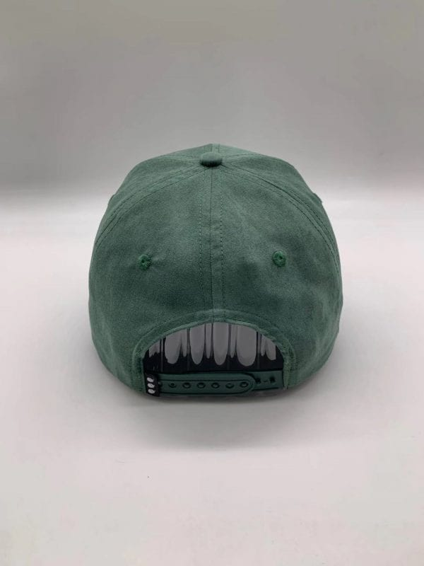 Forest Green Suede Dirt Squirrel Snapback Back