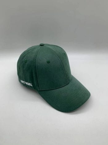 Forest Green Suede Dirt Squirrel Snapback Front