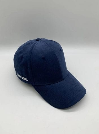 Navy Blue Suede Dirt Squirrel Snapback Front