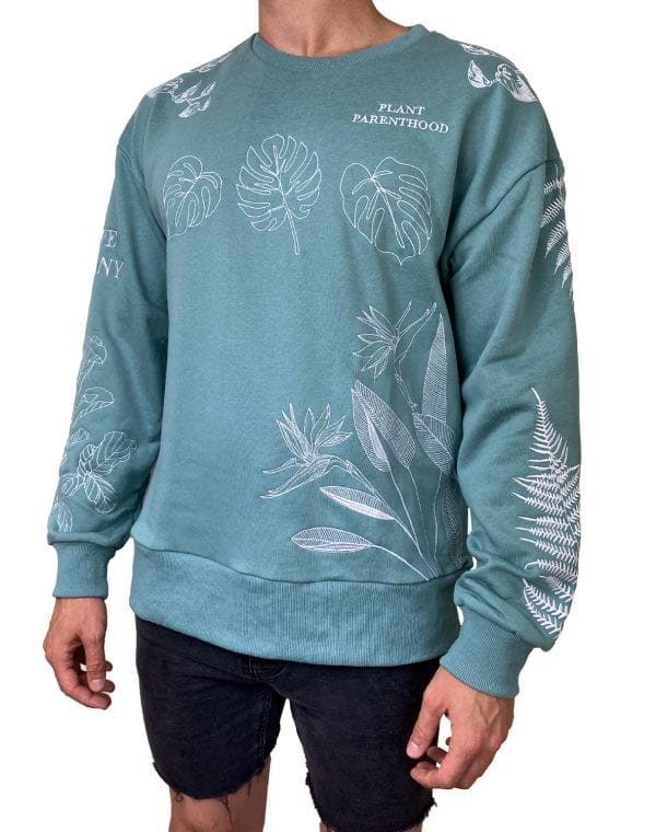 Dirt Squirrel Botany Embroidered Sweater