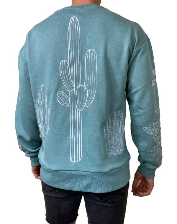 Dirt Squirrel Botany Embroidered Sweater Back